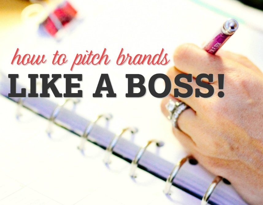 How to Pitch Brands Like a Boss