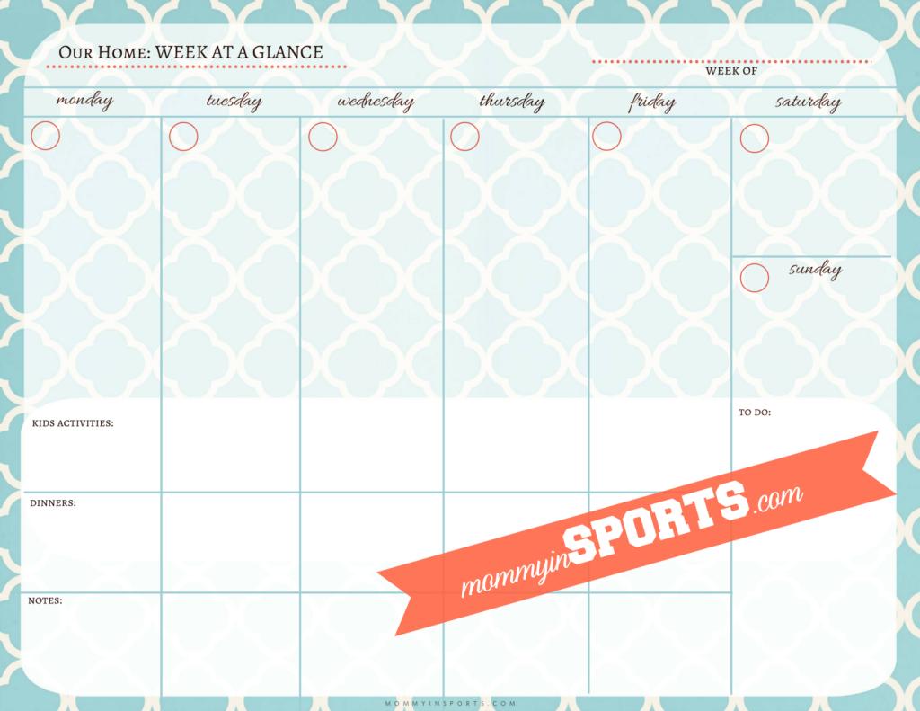 Week At A Glance Calendar Template Vaydileforic