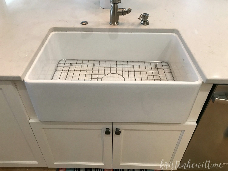 Modern Farmhouse Kitchen Reveal Farmhouse Sink Closeup